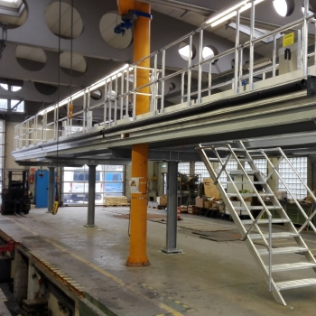 euroline roof working platform made of aluminum